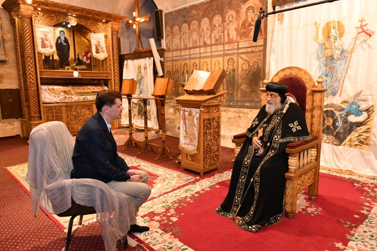 حوار قداسة البابا مع التلفزيون الألماني في إطار وثائقي عن نشأة المسيحية